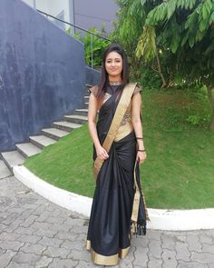 Photo by Mintu MaRia Vincent on September Image may contain: 1 person Best Blouse Designs, Silk Saree Blouse Designs, Blouse Neck Designs, Uni, Indian Gowns Dresses, Long Dresses, Saree Photoshoot, Saree Trends, Designer Blouse Patterns