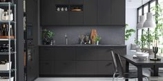 Plan your IKEA kitchen renovation the way you want. We can help at all steps of your renovation, from planning, to design, to full kitchen installation. Ikea Kitchen Cabinets, Kitchen Furniture, Anthracite Kitchen, Kitchen Planner, Kitchen Installation, Black Kitchens, Kitchen Black, Cuisines Design, Kitchen Curtains