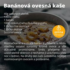 Sweet Recipes, Cake Recipes, Healthy Recipes, Ham, Smoothies, Oatmeal, Food And Drink, Yummy Food, Drinks