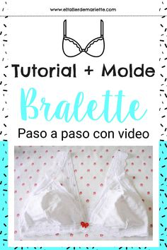 Bralette tutorial Bralette Pattern, Bra Pattern, Lingerie Patterns, Clothing Patterns, Clothes Crafts, Sewing Clothes, Diy Bralette, How To Make Clothes, Sewing Patterns Free