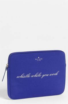 kate spade new york 'whistle while you work' iPad sleeve available at #Nordstrom