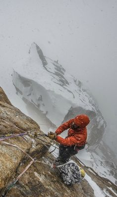 Cold climbing in China.