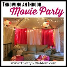Looking for a fun way to celebrate a tween or teen birthday party? Check out this fun post on throwing an indoor movie party! Fun and inexpensive!