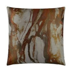 Kess InHouse Suzanne Carter Marble and Blue Block Modern Gray 23 x 23 Square Floor Pillow
