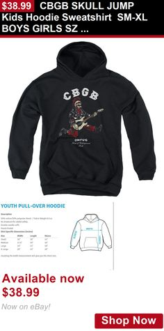 Children boys clothing shoes and accessories: Cbgb Skull Jump Kids Hoodie Sweatshirt Sm-Xl Boys Girls Sz 6-20 BUY IT NOW ONLY: $38.99