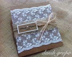 Convite de Casamento Renda Vintage