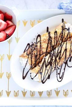 Keto Cannoli Stuffed Crepes - Perfect for any special occasion breakfast, Sunday Brunch, or anytime you just feel like a cannoli but need to keep it low carb and gluten free!