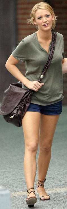 shorts are a little short, but I like the style of the outfit.