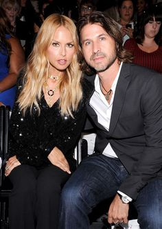 Supima Design Contest Front Row - Rachel Zoe and Roger Berman