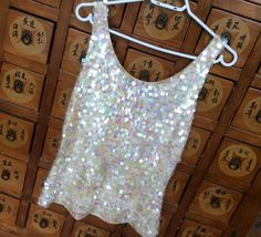 Vintage Sequin Top Ports International Top by ProctorCreations