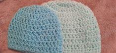Easy Peasy Baby / Infant Sized (Newborn- 3 Months) Double Crochet Beanie Hat Pattern