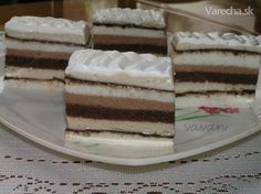 Czech Recipes, Ethnic Recipes, Cake Bars, Cupcakes, Vanilla Cake, Nutella, Tiramisu, Sweets, Baking