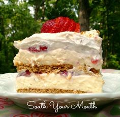 Strawberry Icebox Cake | South Your Mouth