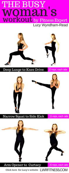 The busy woman's workout - easy to do, no equipment needed and this home fitness 6 Pack Abs Workout, Abs Workout Video, Tummy Workout, Abs Workout Routines, Abs Workout For Women, Fat Workout, Woman Workout, Workout Plans, Workout Fitness