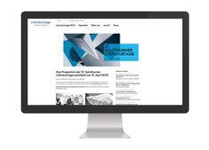 Solothurner Literaturtage  Responsive Website, Design & Development fugu GmbH Shops, Design Development, Monitor, Website, How To Make, Landing Pages, Literature, Tents, Retail