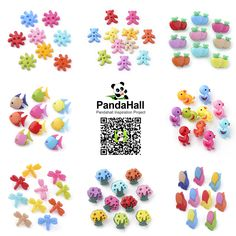 PanddaHall Jewelry Findings------ Acrylic Buttons #PanddaHall #Buttons #findings #jewelry #promotion #fish #chicken #flower #corn #dragonfly