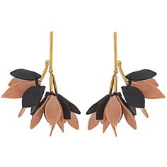 Marni Flower-drop leather earrings (481,040 KRW) ❤ liked on Polyvore featuring jewelry, earrings, marni, leather earrings, leather jewelry, floral earrings, blossom jewelry and mirrored jewelry