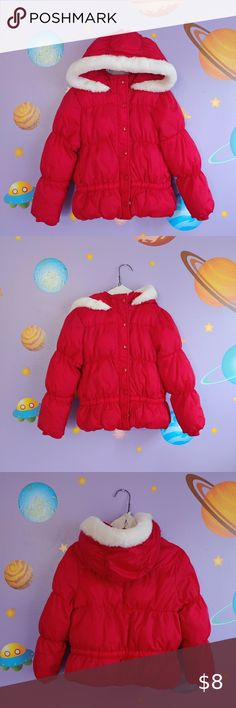NWT Hooded Frost-Free Quilted Warm Jackets Girl Toddler Faux Fur Coat Sz 2T 5T