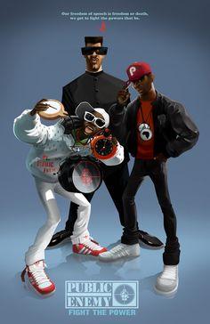 Hip Hop icons by Nelson Dedos Garcia, via Behance