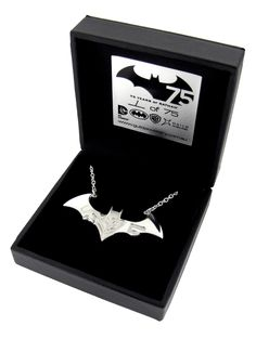 Batman 75th Anniversary Necklet. Sterling Silver and hand made. A limited edition item, only 75 are made to celebrate the Dark Knights 75th Anniversary.