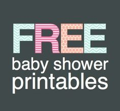 Free Baby Shower Printables | Shower That Baby Sara- didn't really look at what it has but hopefully some cute things