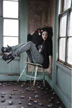 Haunted Baroque Editorials - Coco Rocha in the Vogue Korea 'Legend of Fall' Shoot (GALLERY)