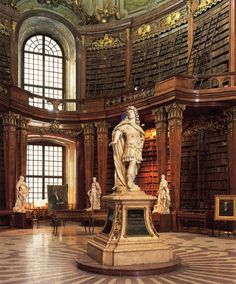 Fischer von Erlach, Library at the Hofburg in Vienna Arquitectura. World Library, Library Books, Photo Library, Vienna Library, Beautiful Library, Dream Library, Chateau Hotel, Old Libraries, Bookstores