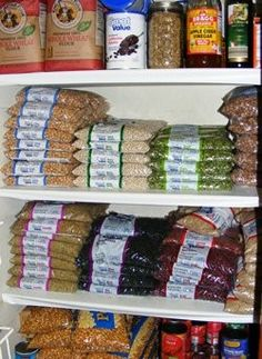 A good list of what to stock for Pantry food for year supply