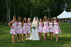 Beautiful bride's maids all in Lilly ~