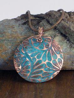 Image result for copper enamel pendant