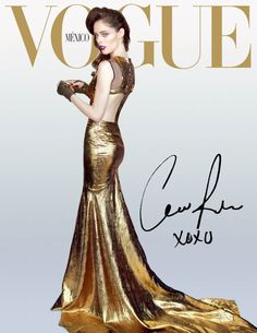 Coco Rocha Goes for the Gold on Vogue Mexicos December 2012 Cover