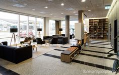 Lounge area - Bühlmann Airport Hotel interior design in Aalborg, Denmark - by Danielsen Spaceplanning
