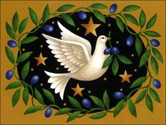 levison design halloween | Holiday Dove and Olives by Stephanie Stouffer | Ruth Levison Design