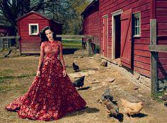 Katy Perry on the farm