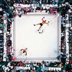 aerial of Ali fight