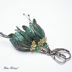 romantyczne,patyna,patynowane,dzwonki - Kolczyki - Biżuteria w ArsNeo