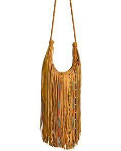 Kobler Leather Bead and Fringe Gypsy Bag , Tan Fringe Handbags, Fringe Purse, Fringe Bags, Brown Leather Purses, Leather Fringe, Leather Bags, Suede Leather, Gypsy Bag, Boho Bags