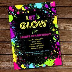 convite neon 4