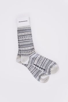 my love for socks continues! ++ fairisle socks grey ++ white mountaineering