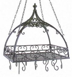 Ornate Kitchen Pot Rack from our Copper Proper Kitchen Collection. Use this to hang your copper pots and pans.