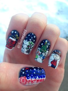 Charlie Brown Christmas Nails