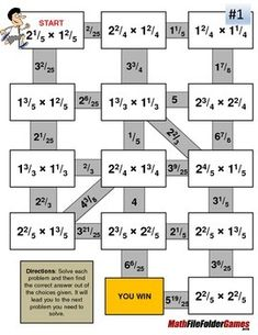 Fraction Maze - Mixed Numbers MULTIPLICATION