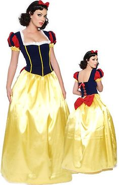 Elegant Snow White Full Length Female Adult Costume
