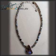 Australian Opal Focal with Labradorite Heshie Necklace
