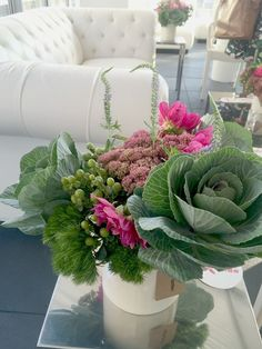 """Fall Flowers: Just Add Kale (a simple way to """"fluff up"""" your Fall bouquets and centerpieces)"""