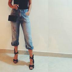 meu acervo de calças jeans sempre me rende maravilhosidades fashionísticas, ⚡️ • #pantacourt