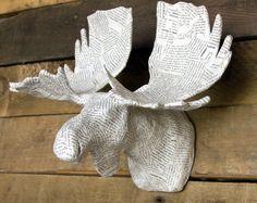 paper mache moose head - Google Search