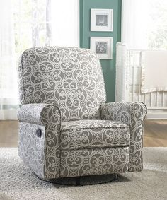 Featuring a cushy design and convenient reclining function, this classic chair makes a comfortable addition to any nursery or bedroom. Perfect for feeding or lulling little ones to sleep.