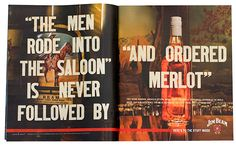 Mike McQuade - typographic spreads for Jim Beam Print Magazine, Magazine Art, Desktop Publishing, Know Your Customer, Very Clever, Communication Art, Jim Beam, Advertising Design, Print Ads