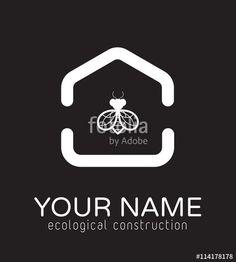 logo pour habitat écologique, constructeur, immobilier, maison, habitat